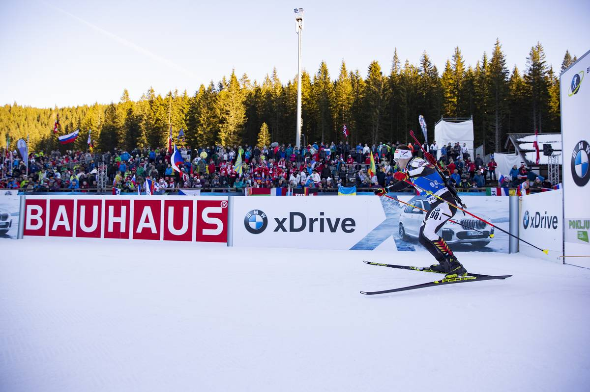 07.12.2018, Pokljuka, Slovenia (SLO): Florent Claude (BEL) - IBU world cup biathlon, sprint men, Pokljuka (SLO). www.nordicfocus.com. © Manzoni/NordicFocus. Every downloaded picture is fee-liable.