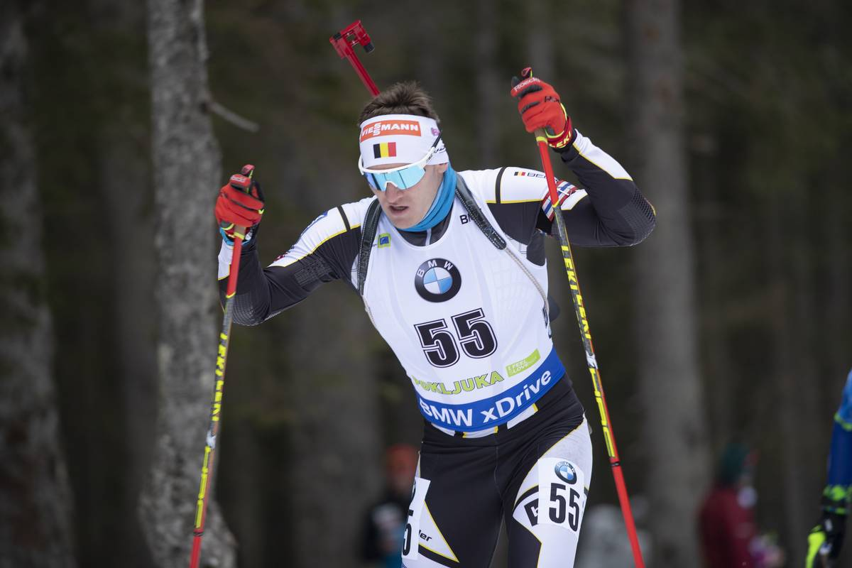 09.12.2018, Pokljuka, Slovenia (SLO): Florent Claude (BEL) - IBU world cup biathlon, pursuit men, Pokljuka (SLO). www.nordicfocus.com. © Manzoni/NordicFocus. Every downloaded picture is fee-liable.