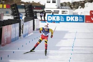 15.02.2020, Antholz, Italy (ITA): Florent Claude (BEL) - IBU World Championships Biathlon, sprint men, Antholz (ITA). www.nordicfocus.com. © Manzoni/NordicFocus. Every downloaded picture is fee-liable.
