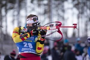 14.03.2020, Kontiolahti, Finland (FIN): Florent Claude (BEL) - IBU world cup biathlon, pursuit men, Kontiolahti (FIN). www.nordicfocus.com. © Manzoni/NordicFocus. Every downloaded picture is fee-liable.