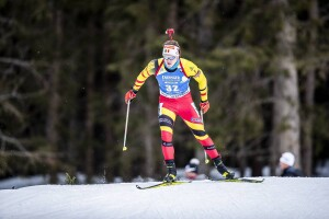 19.02.2020, Antholz, Italy (ITA): Florent Claude (BEL) - IBU World Championships Biathlon, individual men, Antholz (ITA). www.nordicfocus.com. © Modica/NordicFocus. Every downloaded picture is fee-liable.